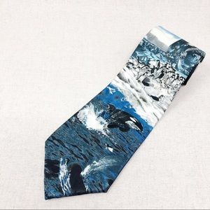 Vintage Orca Whale Tie by Lost Kingdom